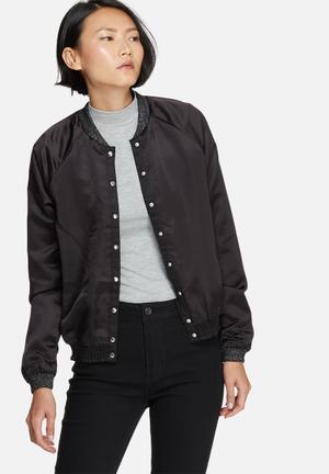 Vero Moda Rocker Bomber Jackets Black