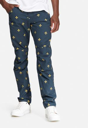 G-Star RAW Elwood 5622 Tapered Pants & Chinos Navy & Yellow