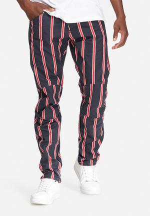 G-Star RAW Elwood 5622 Tapered Pants & Chinos Navy & Red