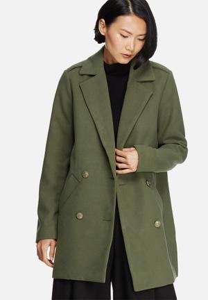 Noisy May Field Coat Jackets Green
