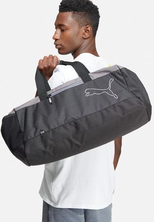 PUMA Puma Echo Sports Bag Black, Grey & White