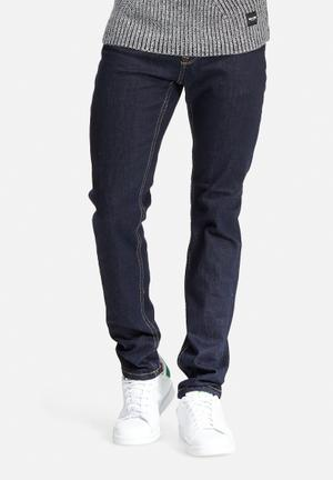Only & Sons Loom Slim Denim Jeans Dark Blue