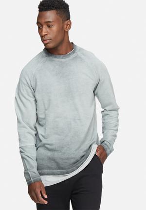 Only & Sons Barry Crew Neck Hoodies & Sweatshirts Grey