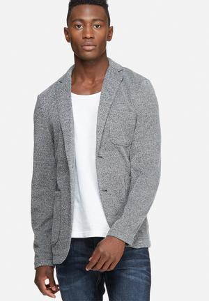 Only & Sons Casual Blazer Jackets & Coats Black & White