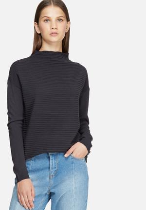 Jacqueline De Yong Daylight Sweater Knitwear Navy