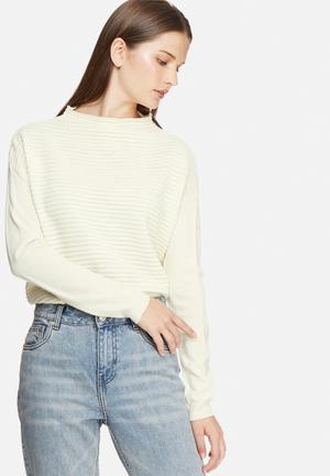 Jacqueline De Yong Daylight Sweater Knitwear Cream