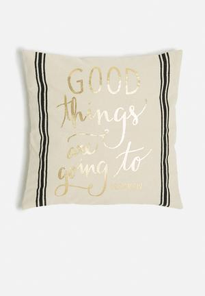 Sixth Floor Good Thing Cushion Cover 100% Cotton With Foil Print