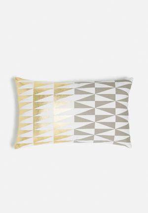 Sixth Floor Transition Cushion Cover 100% Cotton With Foil Print