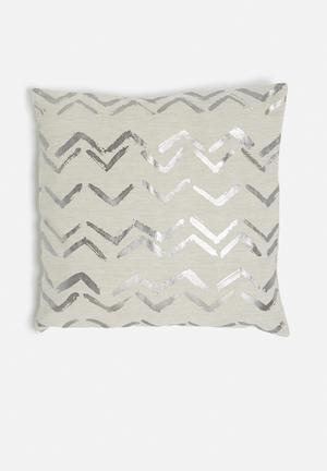 Sixth Floor Wavy Cushion Cover 100% Cotton With Foil Print