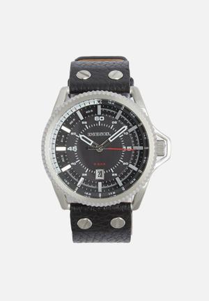 Diesel  Rollcage Watches Black & Silver