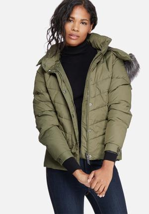 ONLY Sierra Short Down Jacket Khaki