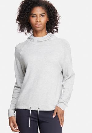 Jacqueline De Yong Cash Hooded Sweater Knitwear Grey