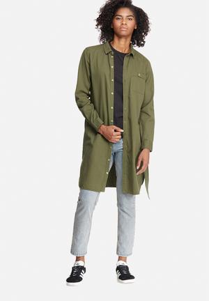 Vero Moda Penny Shacket Shirts Khaki