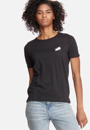 Vero Moda Annie Tee T-Shirts, Vests & Camis Black