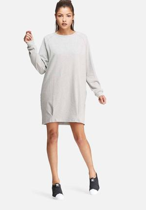 Glamorous Relaxed Sweat Dress Casual Grey Melange