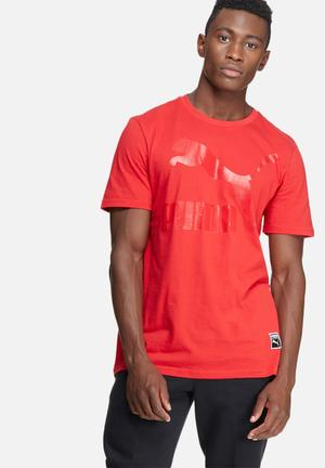 PUMA Archive Logo Tee T-Shirts Red
