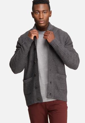 Jack & Jones Originals Anthon Knit Cardigan Knitwear Grey
