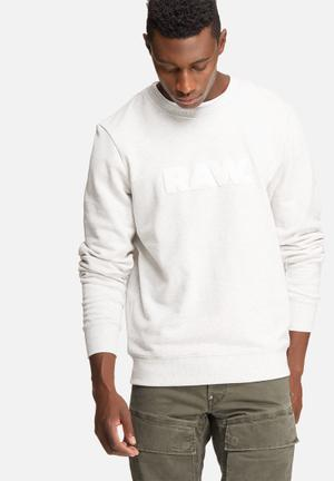 G-Star RAW Hodin Sherland Sweat Hoodies & Sweatshirts White & Grey