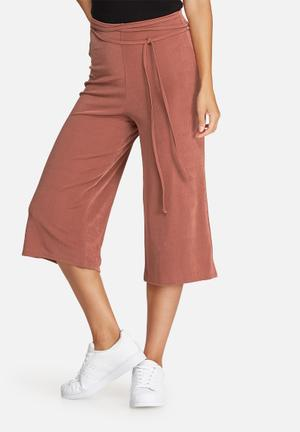 Missguided Slinky Culottes Trousers Pink