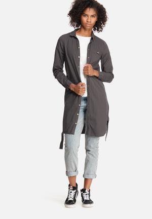 Vero Moda Penny Shacket Shirts Grey