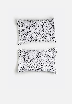 Hello Dolly Dots Pattern Pillowcase Set Of 2 Bedding 100% Cotton
