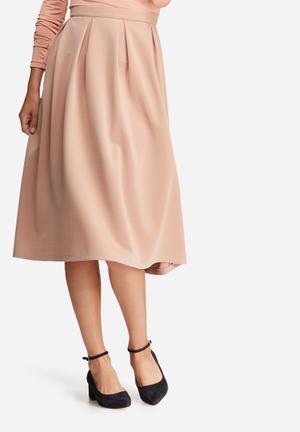 Dailyfriday Full Pleated Midi Skirt Dusty Pink