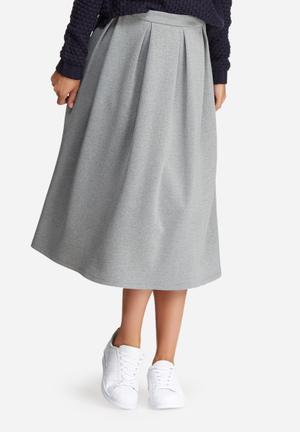 Dailyfriday Full Pleated Midi Skirt Grey