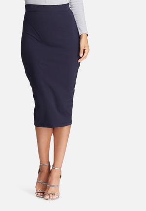 Dailyfriday Midi Pencil Skirt Navy