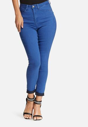 Missguided Rebel Supersoft Superstretch Skinny Jeans Blue