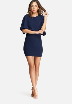 Missguided Overlay Bodycon Dress Occasion Navy
