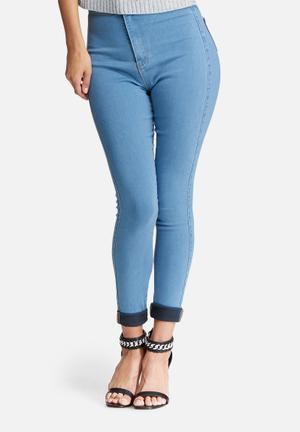 Missguided Vice Highwaisted Skinny Jeans Blue