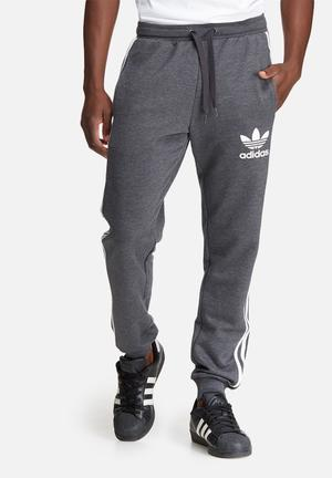 Adidas Originals Slim Track Pants Sweatpants & Shorts Charcoal & White
