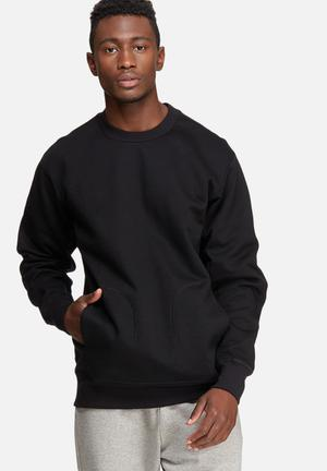Adidas Originals X By O Crew Sweat Hoodies & Sweatshirts Black