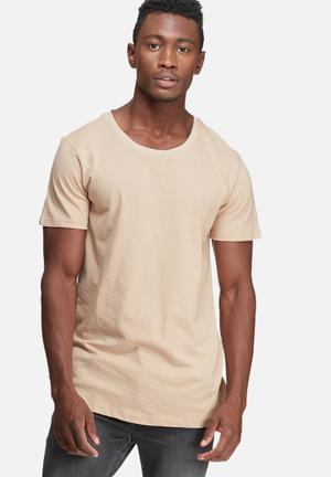 Basicthread Plain Scoop Tee T-Shirts & Vests Stone