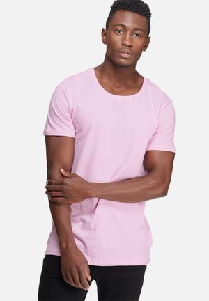 Basicthread Plain Scoop Tee T-Shirts & Vests Pink