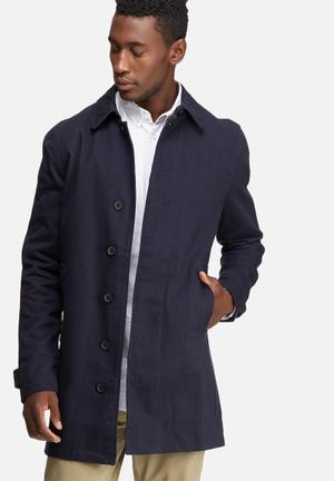Only & Sons Journal Trench Coat Navy