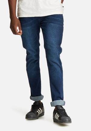 Sergeant Pepper Feather Straight Jeans Blue