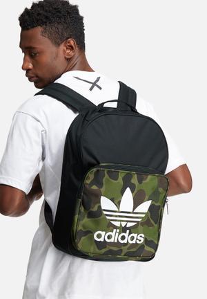 Adidas Originals Classic Camo Bags & Wallets Black, White & Green