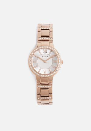 Fossil Virginia Watches Rose Gold