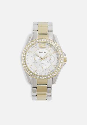 Fossil Riley Watches Gold & Silver