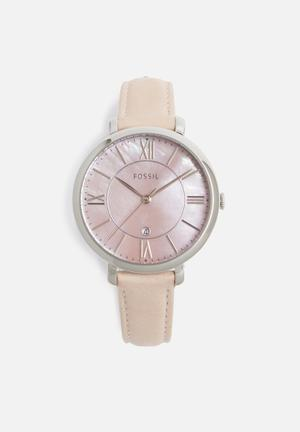 Fossil Jacqueline Watches Pink & Silver