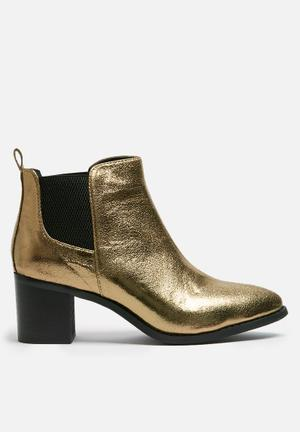 Dailyfriday Patent Boot Gold