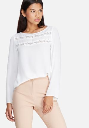 Dailyfriday Lace Inset Blouse White