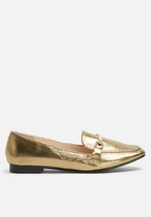 Dailyfriday Metallic Loafer Pumps & Flats Gold