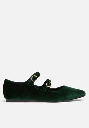 Dailyfriday Buckled Flat Emerald Green