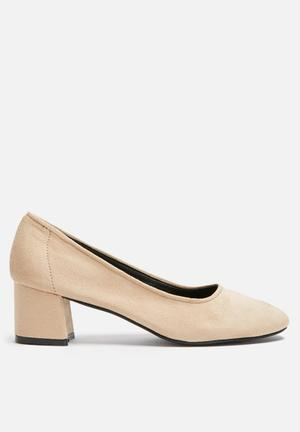 Dailyfriday Block Court Heels Nude