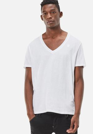 G-Star RAW Base V-neck 2pack Tee T-Shirts & Vests White