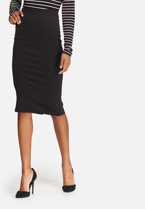 Dailyfriday Formal High Waisted Pencil Skirt Black