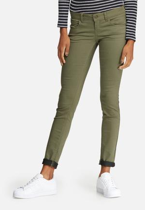 ONLY Lucia Push-up Skinny Jeans Green