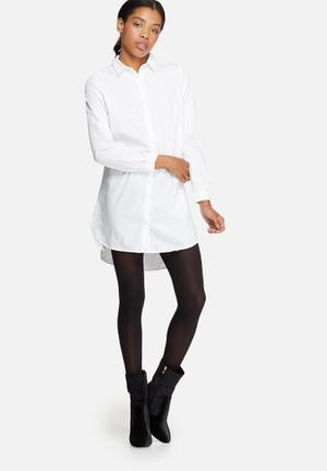 ONLY Anna Long Oversize Shirt White